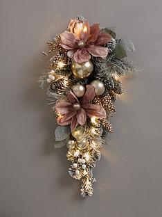 frosted-rose-pre-lit-teardrop-wreath
