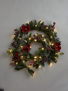 6ft-new-england-pre-lit-red-magnolia-christmas-garland
