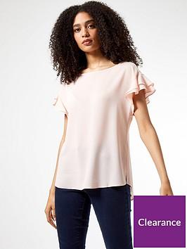 dorothy-perkins-sustainable-ruffle-sleeve-t-shirt-pink