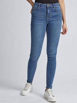 Dorothy Perkins Dorothy Perkins Shape And Lift Skinny Jeans - Midwash Picture