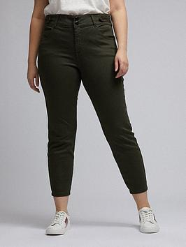 Dorothy Perkins Dorothy Perkins Curve Darcy Skinny Jeans - Khaki Picture