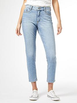 Dorothy Perkins Dorothy Perkins Mom Jeans - Light Wash Picture