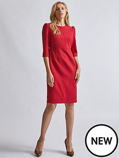 dorothy-perkins-short-sleeve-dress-red