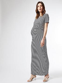 Dorothy Perkins Dorothy Perkins Maternity Stripe Layered Maxi Dress - Black Picture
