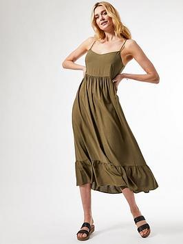 Dorothy Perkins Dorothy Perkins Strappy Tiered Midi Dress - Khaki Picture