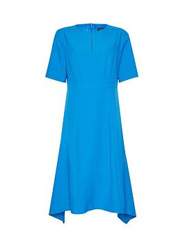 Dorothy Perkins Dorothy Perkins Asymmetric Hem Dress - Blue Picture