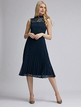 Dorothy Perkins Dorothy Perkins Lace Midi Dress - Navy Picture