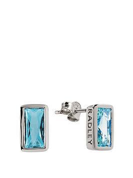 radley-radley-crystal-blue-rectangle-stud-earrings