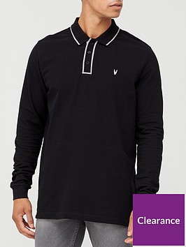 very-man-placket-tipped-pique-long-sleeve-polo-black