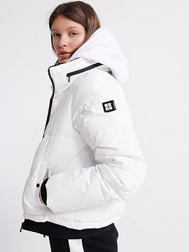 Superdry Superdry Long Sleeved Essentials Padded Jacket - White Picture