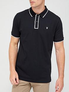 very-man-placket-tipped-jersey-polo-black