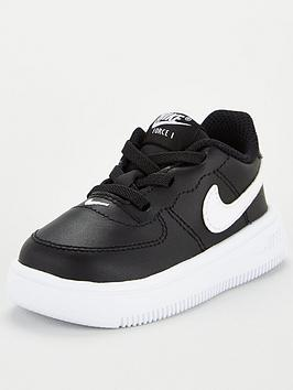 Nike Nike Air Force 1 '18 (Td) Childrens Trainer - Black/White Picture