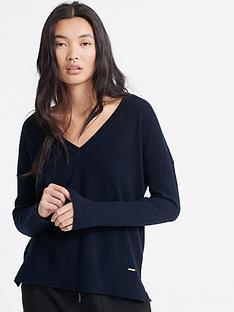 superdry-edit-v-neck-premium-knitted-jumper-black