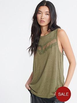 superdry-chevron-lace-vest-top-green