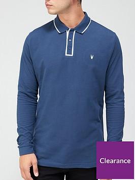 very-man-placket-tipped-pique-long-sleeve-polo-denim-blue