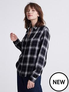 superdry-lightweight-check-shirt-grey