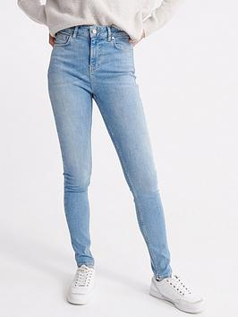 Superdry Superdry High Rise Skinny Jeans - Light Blue Picture