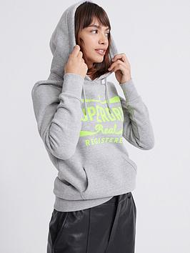 Superdry Superdry Neon Classic Real Hoodie - Grey Picture