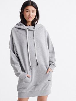 superdry-arizona-funnel-sweat-dress-grey