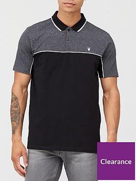 very-man-textured-colour-block-polo-shirtnbsp-black