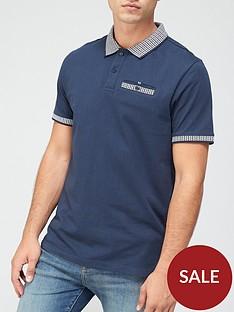very-man-jacquard-collar-polo-shirt-blue