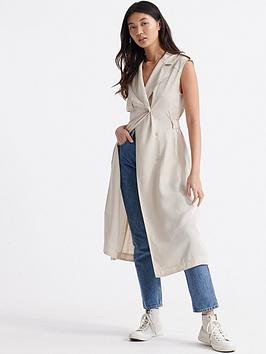 Superdry Superdry Desert Wrap Dress - Oat Bran Picture