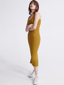 Superdry Superdry Sahara Knit Midi Split Dress - Yellow Picture
