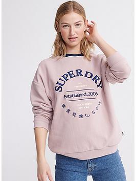 Superdry Superdry Applique Serif Crew Sweatshirt - Purple Picture