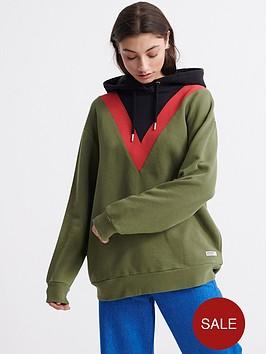 superdry-alchemy-chevron-hoodie-green
