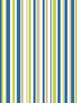ARTHOUSE  Arthouse Earn Your Stripes Blue/Green Wallpaper
