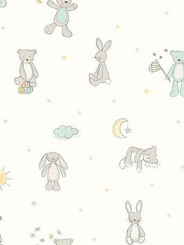 ARTHOUSE  Arthouse Bear Hugs Mint Wallpaper