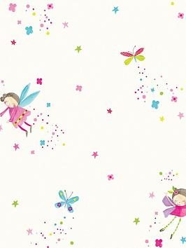 ARTHOUSE Arthouse Fairy Dust White Wallpaper Picture