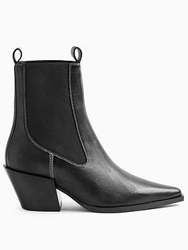 Topshop Topshop Mystery Western Boot - Black Picture