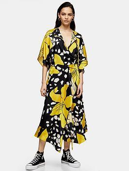 Topshop Topshop Boutique Lily Drawstring Midi Dress - Multi Picture
