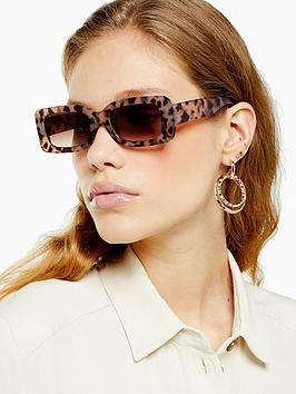Topshop Topshop Bruce Square Sunglasses - Brown Picture
