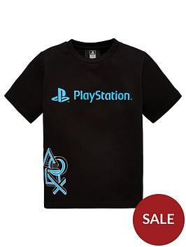 playstation-boysnbsplogo-t-shirt-black