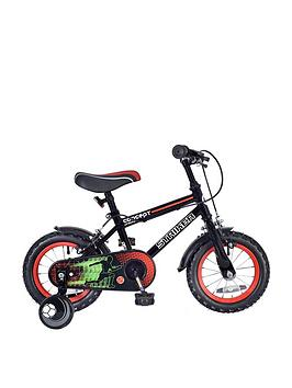Concept Concept Striker Boys 7.5 Inch Frame 14 Inch Wheel Bike Black