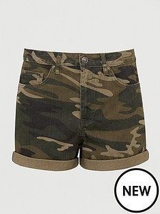 v-by-very-mom-denim-short-camouflage-print