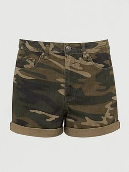 V by Very V By Very Mom Denim Short - Camouflage Print Picture
