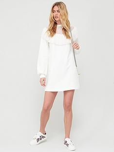 river-island-lace-insert-frill-jersey-sweater-dress-cream
