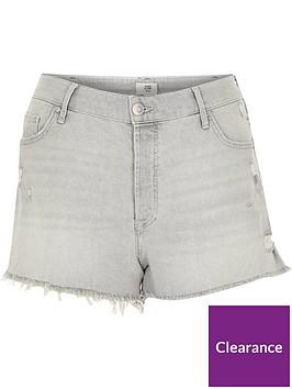 ri-plus-denim-shorts-grey