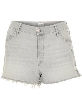 RI Plus Ri Plus Denim Shorts - Grey Picture