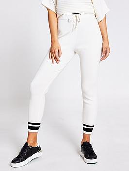 River Island  Co-Ord Knitted Jogger - Cream