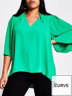 ri-plus-pussybow-blouse-green