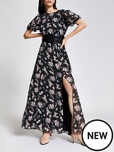 river-island-floral-chiffon-midaxi-dress-black