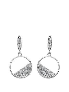 Hot Diamonds Hot Diamonds Hot Diamonds Horizon White Topaz Circle Earrings Picture