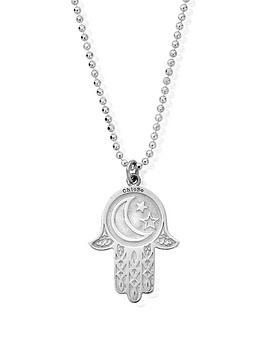 ChloBo Chlobo Chlobo Sterling Silver Diamond Cut Chain With Moon & Star  ... Picture