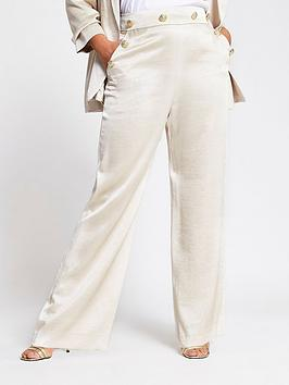 RI Plus Ri Plus Wide Leg Trouser - Ecru Picture