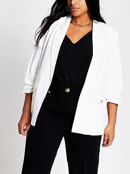 RI Plus Ri Plus Crepe Blazer - White Picture