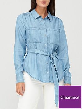v-by-very-tie-waist-denim-shirt-blue